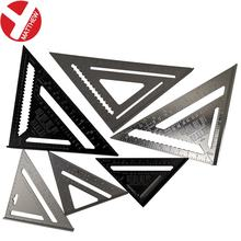 Multifunctional Black Aluminum Angle Set Square Triangle Ruler with Metric and Imperial Scale