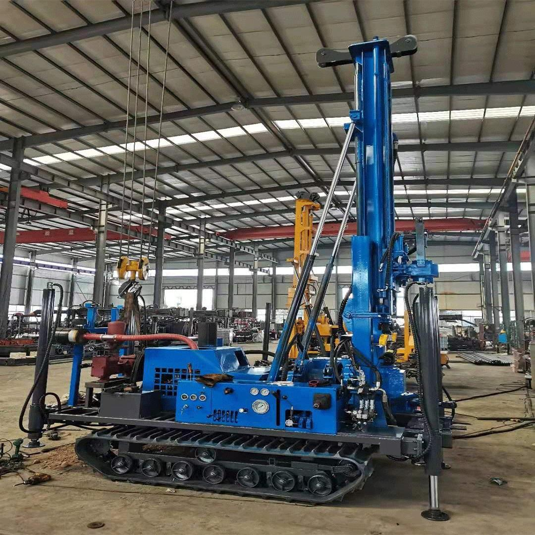 New designed rotary table drilling rig for water well drilling Chain diesel core drilling rig