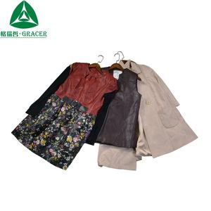 Mixed used clothing brand second hand clothes leather jackets
