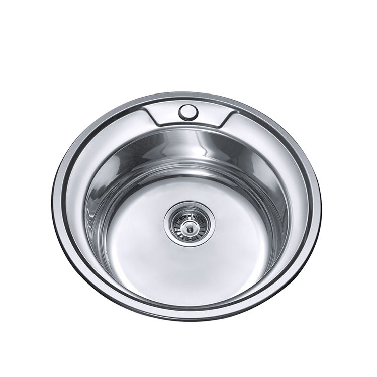 wholesale factory 201 304 round shape single stainless steel round kitchen sink