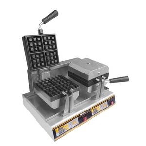 Hot sale Electric snack machine maker/ double square rotary Waffle baker HFF-02