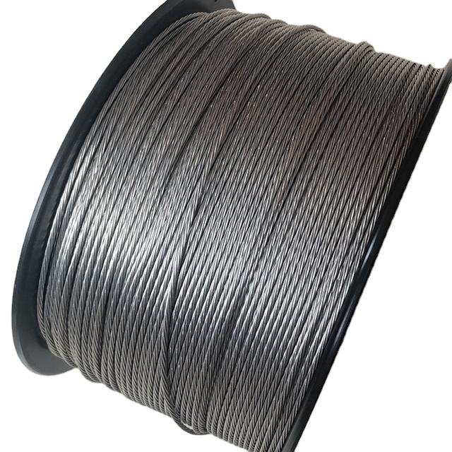 1.8mm 500meter multi strand No rust high strength electric aluminum fence wire price with good conductivity