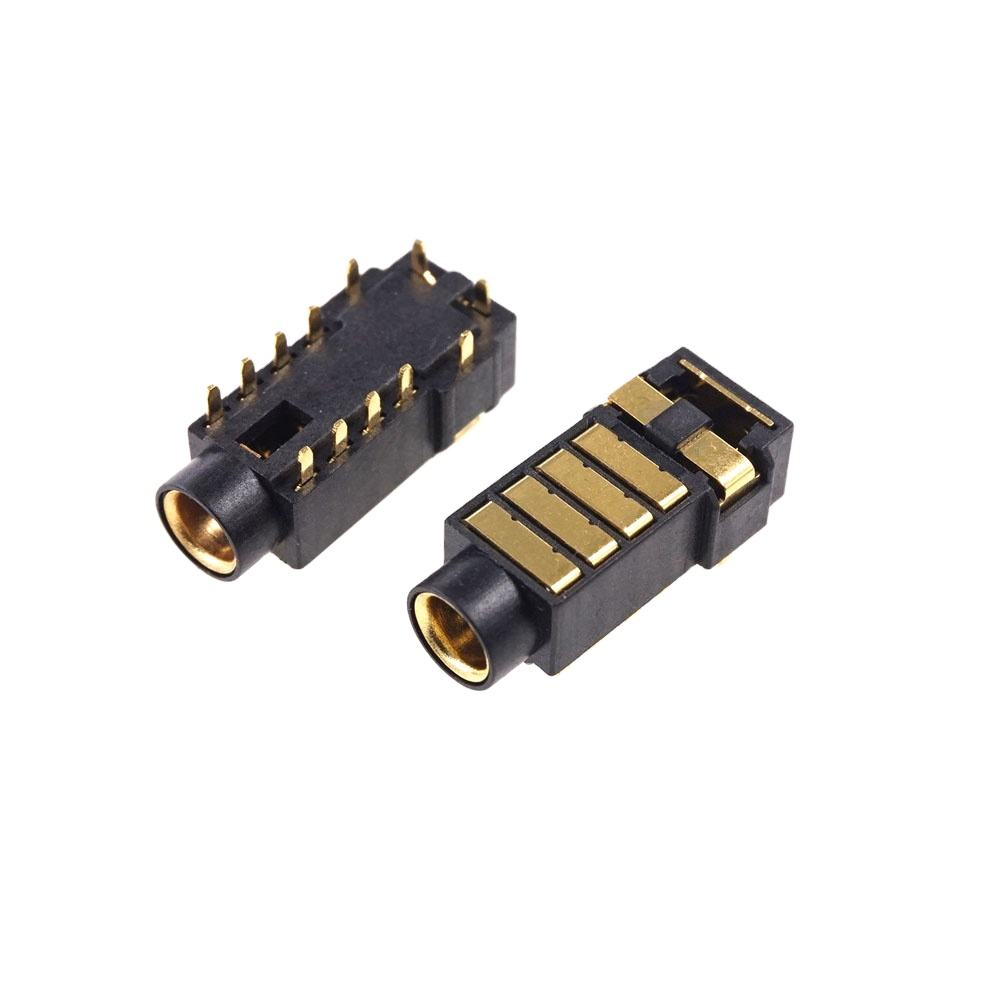 TRRRS PJ-4.5 gold plated 4.5 mm headphone power socket pin 5 poles audio for Sony player 4.4 balance Receptacle Socket
