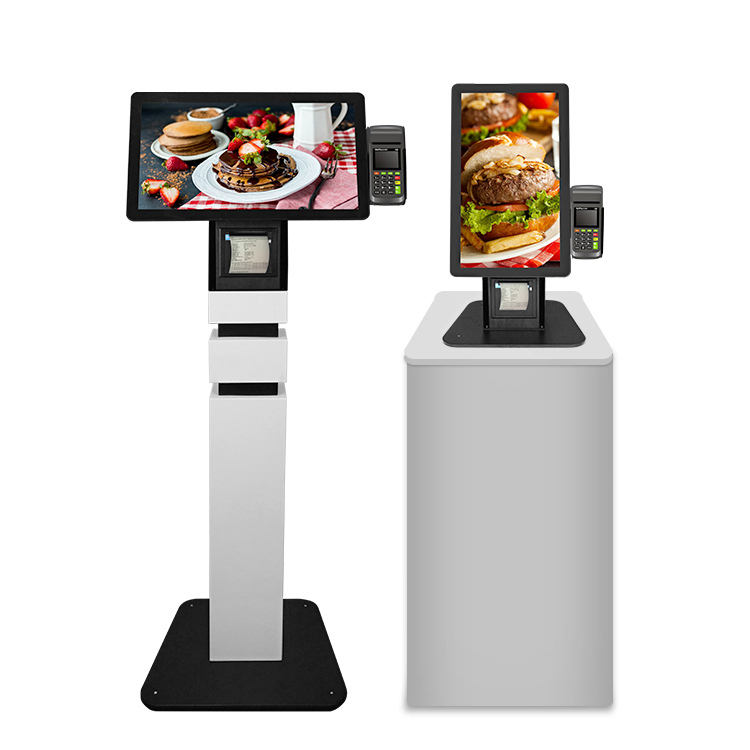 Fast Food Restaurant Prepaid cashless smart Touch screen self Ordering automatic barcode scanner Payment Kiosk