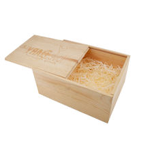 Brivote essential oil Popular custom gift packaging wooden box with slide cover