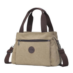 Casual lady with bill of lading shoulder slant with large capacity and multiple compartments canvas bag