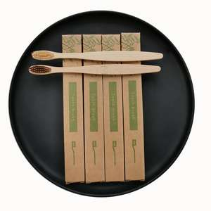 Eco- friendly Charcoal Bristles OEM Bamboo Toothbrush with Customized Packing and Logo
