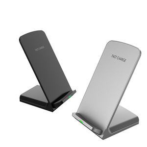 Factory Direct Sale Desktop Induction Charging 2 coils Wireless Phone Charger Stand Station Docking For Iphone For Samsung