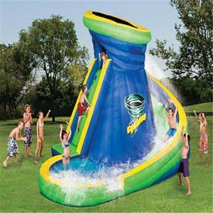 Kids Water Slides With Pool And Cannon Backyard Inflatable Cheap Commercial Banzai Inflatable Water Slide