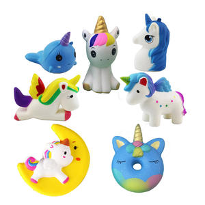 fashion assorted squishy toy slow rising jumbo colorful cartoon Unicorns series squishy sets 2020