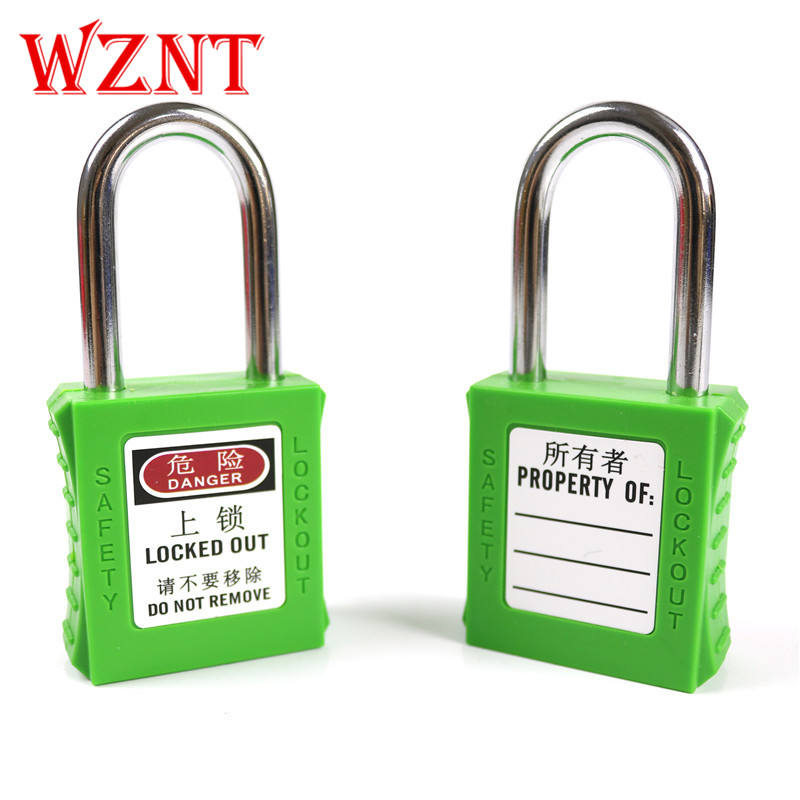 38 Mm Green Safety Lock Lockout Gembok dengan 2 Kunci Unik
