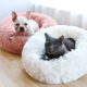 wholesale online amazon amazing cute cheap puppy luxury deluxe round donut durable custom cuddler personalized soft pet dog bed