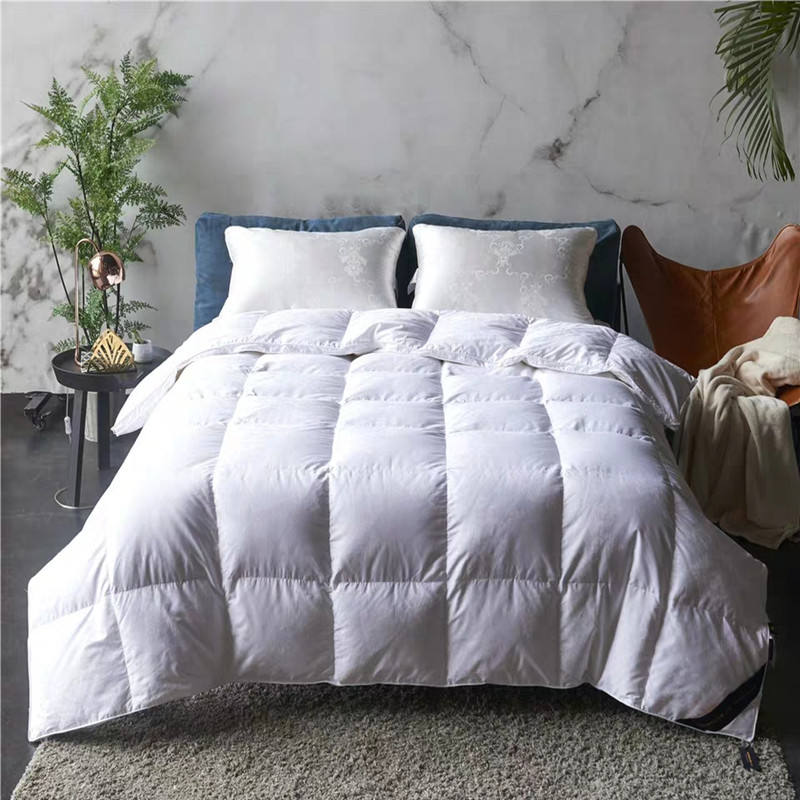 High Quality Luxury white goose down comforter and feather duvet King size