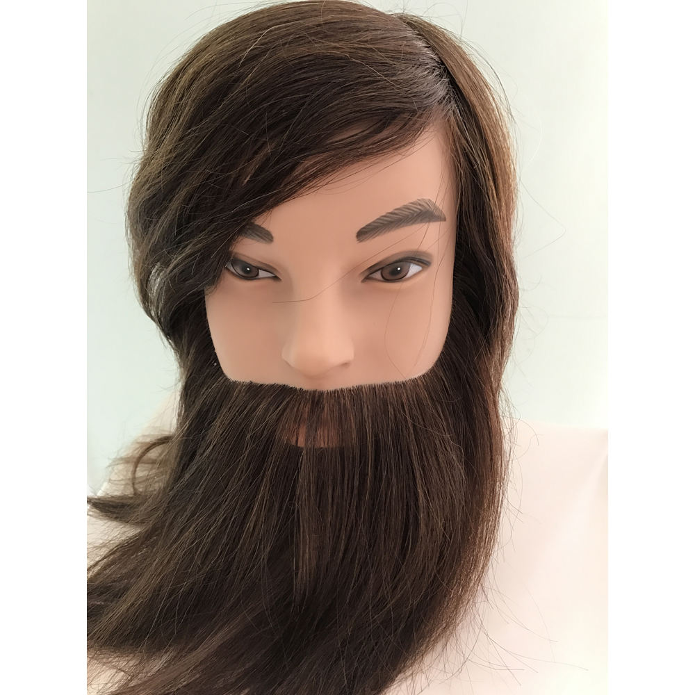 mens's mannequin head with beard for training school