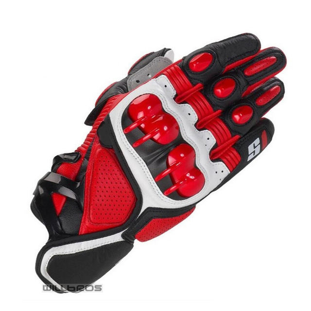 Star S1 Racing Motorbike Street Moto Rider Motocross Leather Gloves Motorcycle Glove