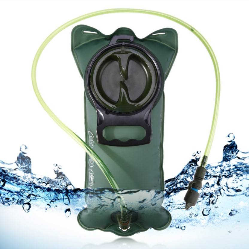 Hydration Bladder 2 Liter Leak Proof Water Reservoir, Military Water Storage Bladder Bag, for Hiking Biking Climbing Cycling