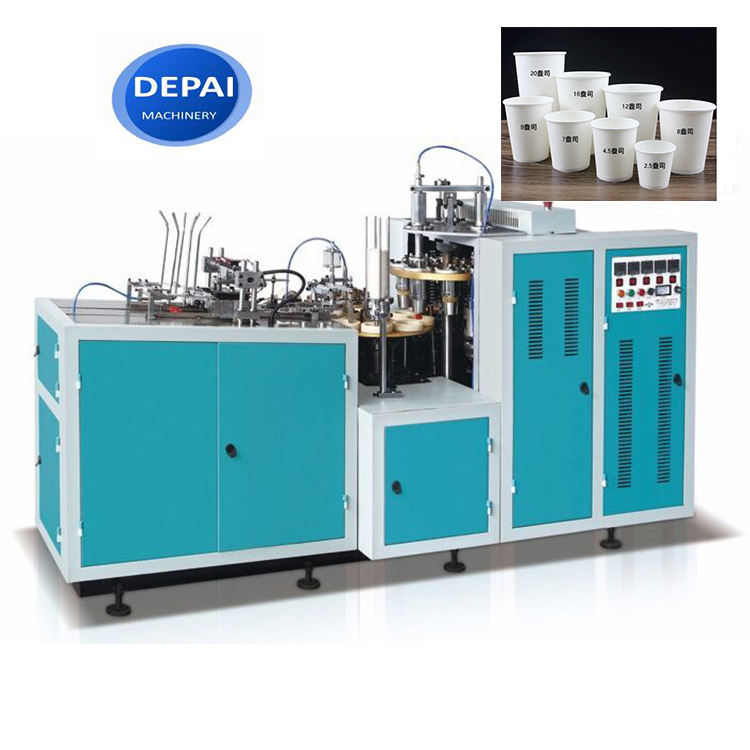 CE approved automatic 6/12/16/oz double PE coated carton paper cup machine
