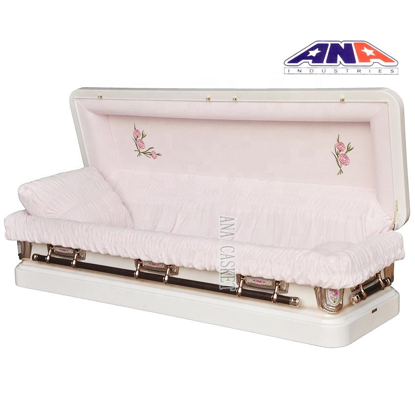 ANA china full couch luxury interior lining 18ga steel metal coffin Casket