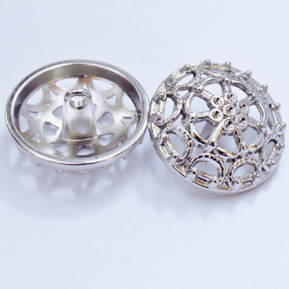 Custom made design Zinc Alloy gold logo sewing accessory garment suit coat shank button flower sewing buttons