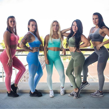 High Quality Women Gradient High Waist Seamless Leggings Yoga Fitness Trousers Gym Running Sport Pants