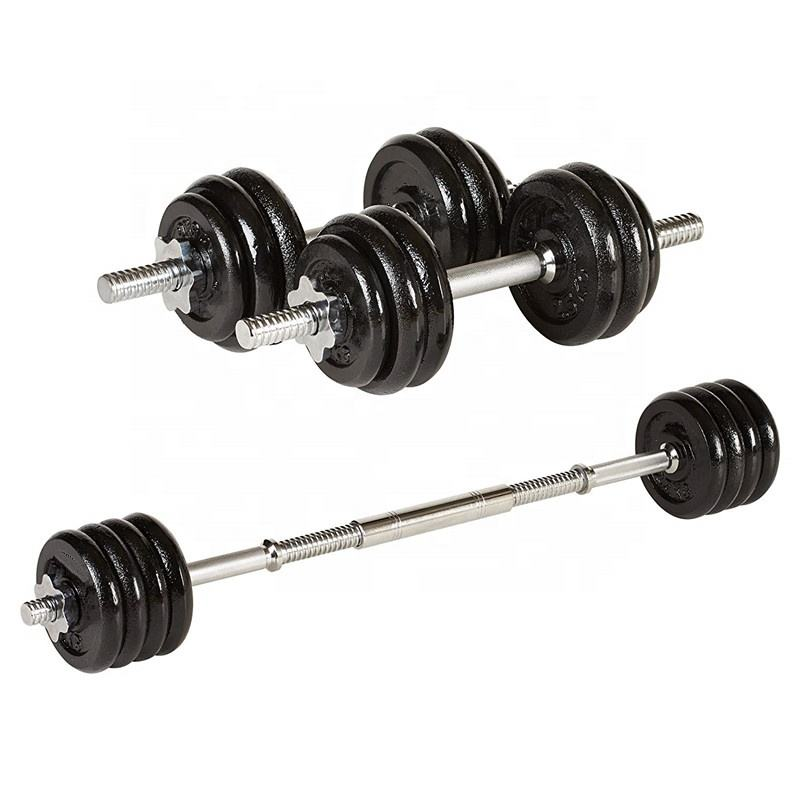 Multipurpose 30kg Adjustable Dumbbell Weight Set Non-slip Safety Weightlifting Combination
