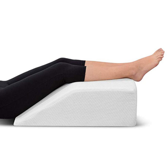 Adult Wedge Pillow Restorology Elevating Memory Foam Leg Rest Pillow best for Back, Hip and Knee Pain Relief