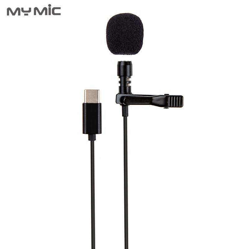 My Micl LJT01 professional condenser recording mic Type-C clip lavalier lapel microphone for cell phone