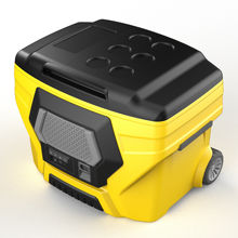 Large capacity insulated multi-function Bluetooth cooler speaker With Wheels