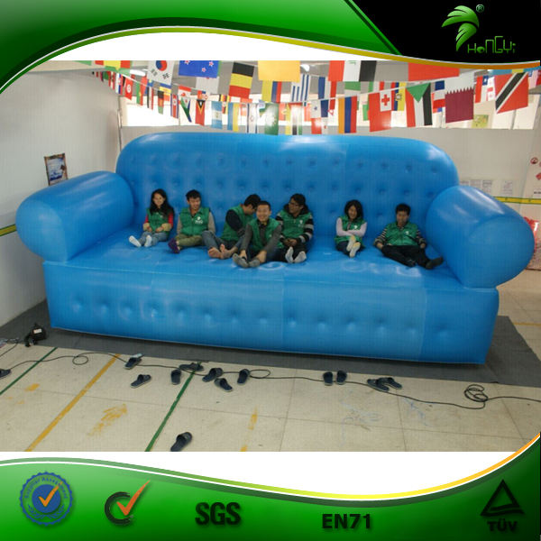6M Big Inflatable Sofa, Giant Chesterfield Air Cheap Outdoor Inflatable Sofa