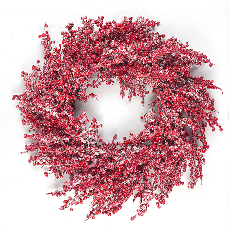 Wreath Wholesale Red Berry Christmas Wreaths For Front Door Greenery Wall