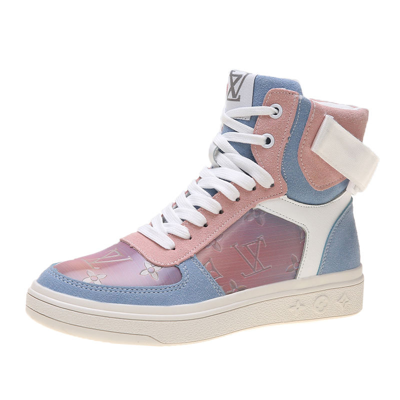 Wholesale Women's fashion skateboard shoes girls High Top Casual Skate Sneakers