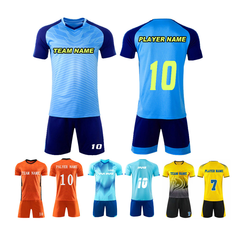Dye sublimation Custom printing soccer wears uniforms sportswear set Team Training Football Wear Soccer Jerseys