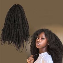 Afro Kinky Curly Hair Extensions Long Afro Kinky Marley Braid Twist Crochet Synthetic Kinky Hair Extension Marley Braid Hair