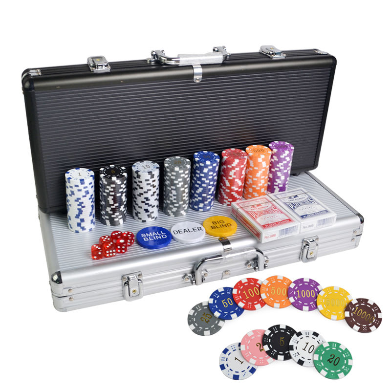 400 pcs mini poker chip set antique casino style poker chip set