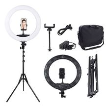Photography makeup video camera led circle light large size 18 inch led ring light