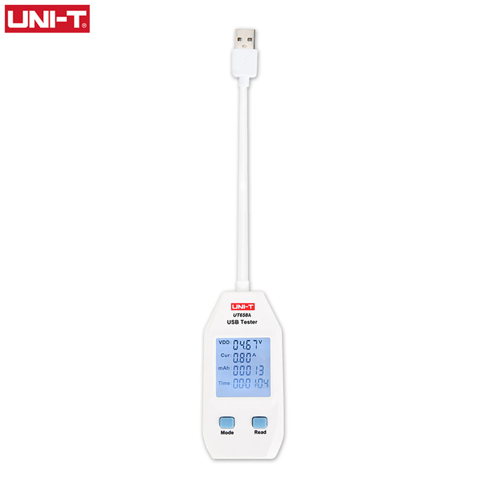 Uni-t UT658A Potable Output Voltage Current Resistance USB Tester Meter USB Digital Display with 10 Sets Data Storage