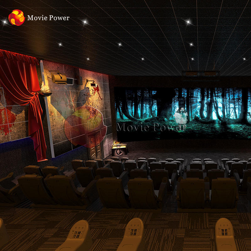 Volwassen Spel 5D Cinema Horror Huis Scary Movie Dynamische Cinema Simulator