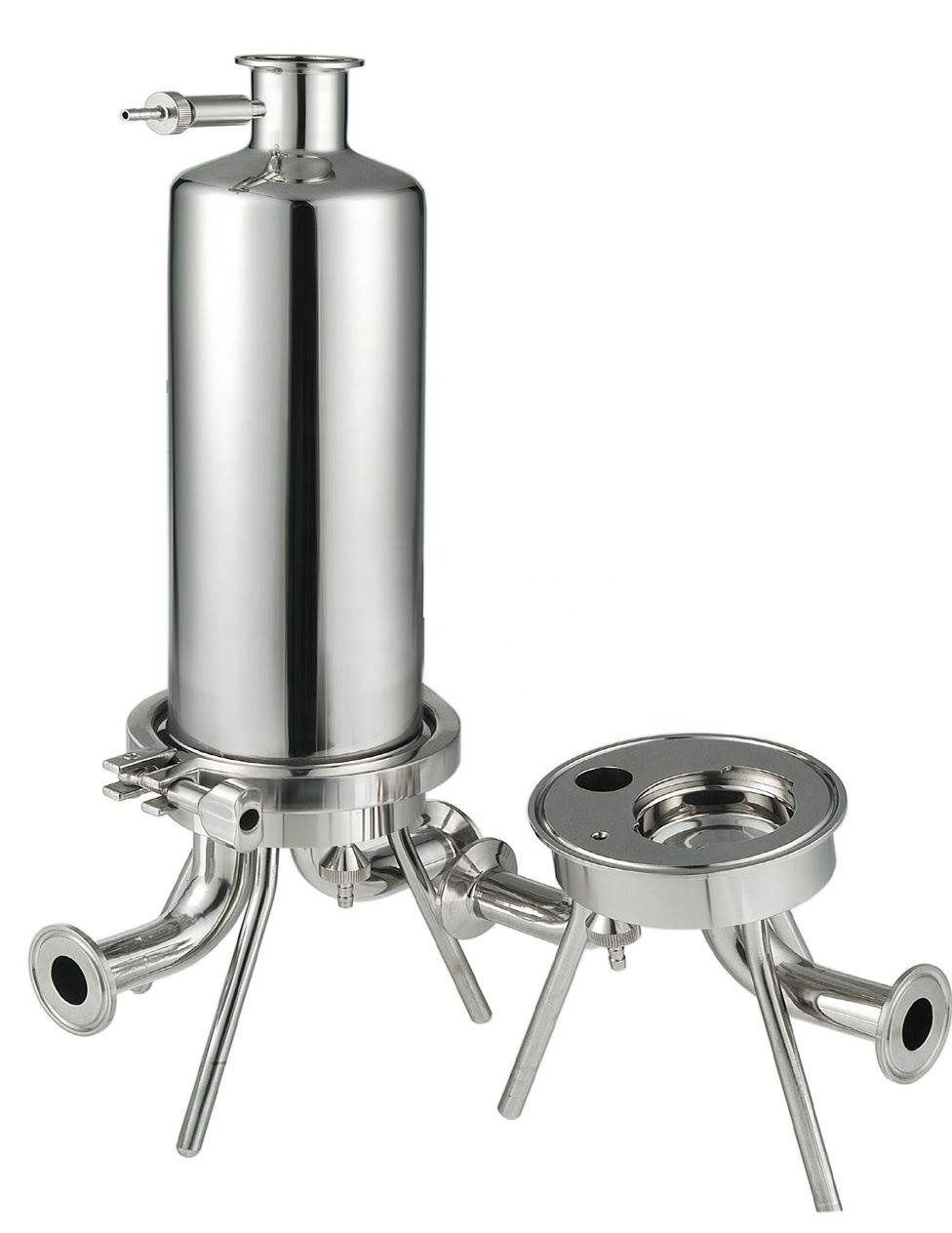 Stainless Steel Cartridges Filter Housing For Water Treatment