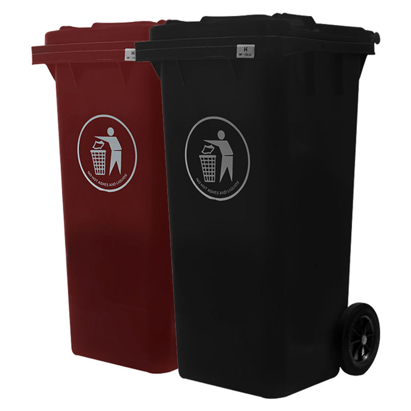 120 l/lt road side stand plastic waste garbage bin trash bins dustbin