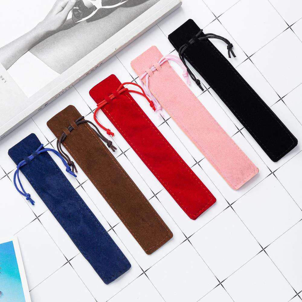 Wholesale Cheap Fashion Custom Logo Pencil Pen Bag School Stationery Pen Packaging Bag