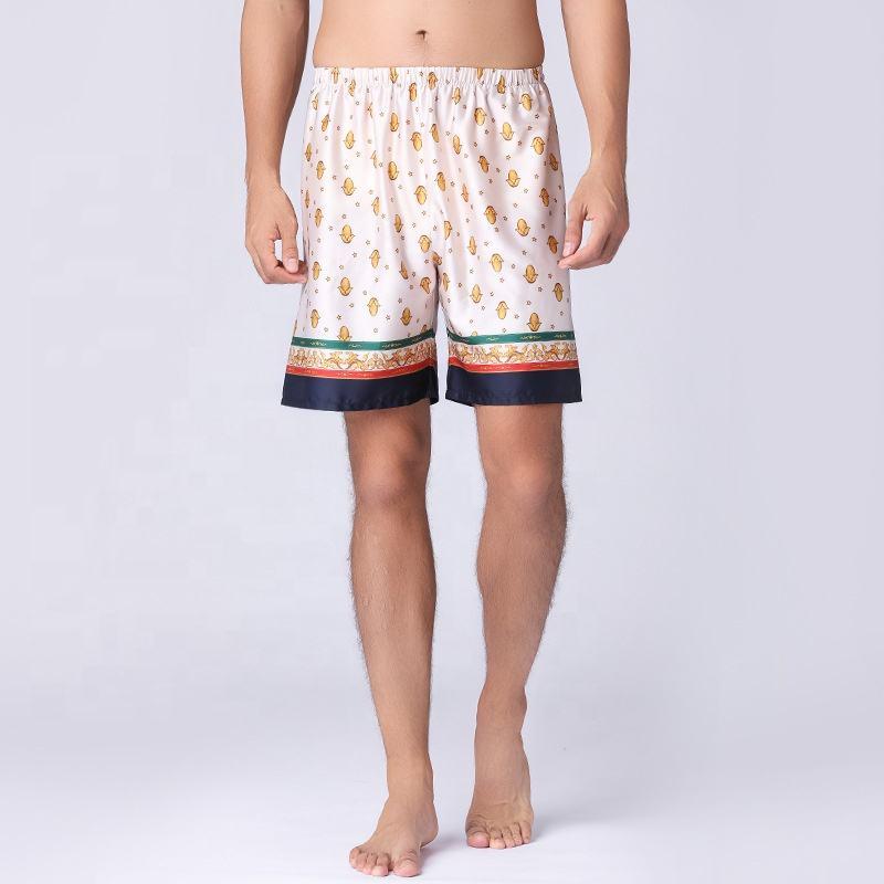 Yayu Mens Loose Sleep Shorts Satin Lounge Shorts Underwear