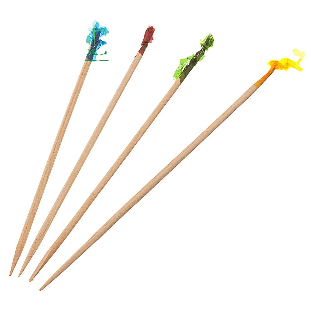 Large box of frilly toothpicks multicolor TOOTH PICKS SET