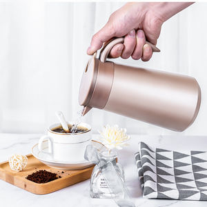 2020 TIANYU Modern Stainless Steel Moka Pot Round Bottom Coffee Flask Vacuum