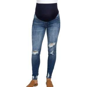 Hot Selling Wholesale Pregnant Women Legging Women Maternity Pants High Waist Elastic Comfortable Long Casual Pants