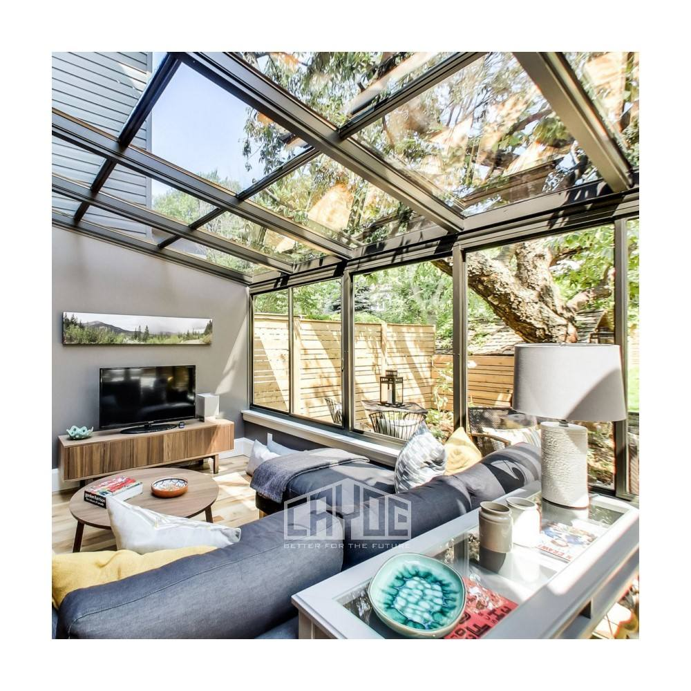 Foshan supplier aluminium garden house glass house sunroom