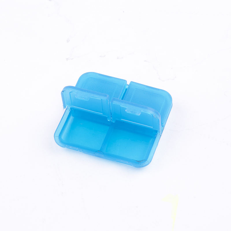 Unionpromo Mini Pill box 4 Compartments plastic pill box pocket size pill box transparent plastic case
