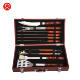 Bbq Set Stainless Sets Heavy Duty 10PCS BBQ Grill Set Barbecue Stainless Steel BBQ Tools Sets COLOR WOOD HANDLE BBQ Accessories