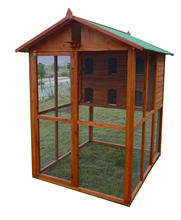Cheap Large Wooden Aviary Standing Vertical Play House with Bars Parakeets Finches Good Wood Vertical Breeding Cage Bird