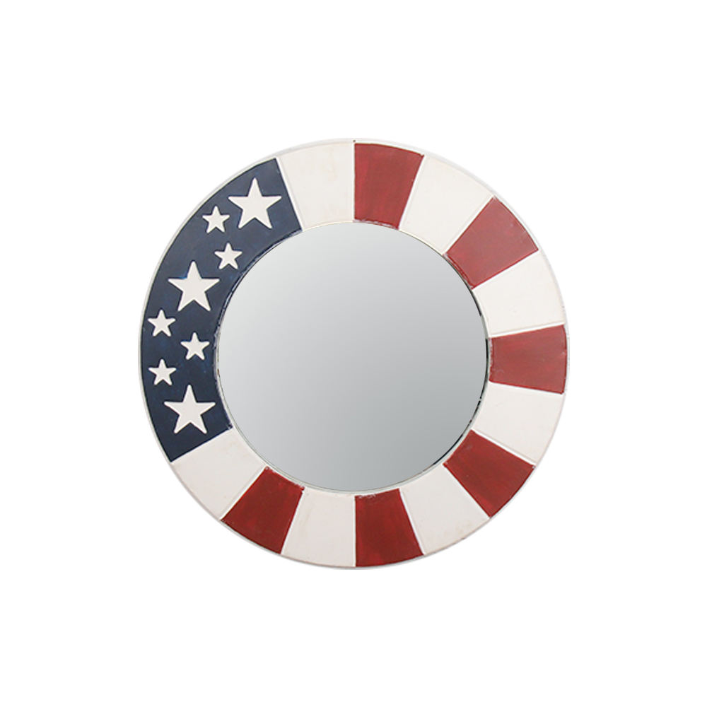 Americana Vintage Wall Decor Mirror Independence Day Christmas Decoration