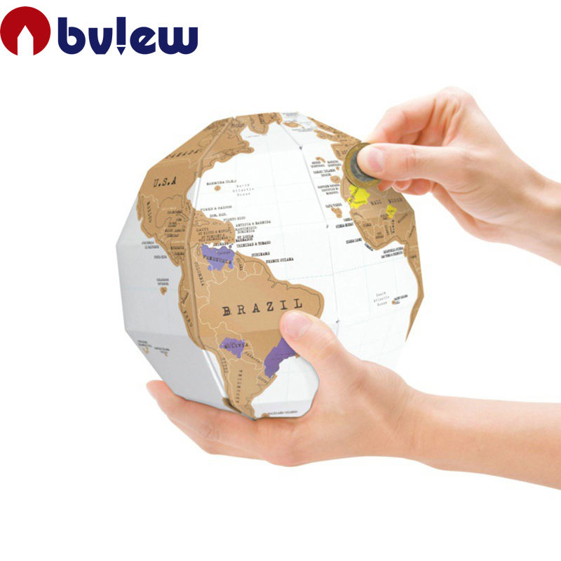 Neue Design Kreative DIY 3D Puzzle Scratch Off World Globe Karte Für Dekorationen